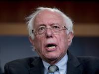 Kandidát na prezidenta USA Bernie Sanders.