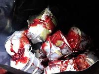 V dodávke sa nachádzalo zapáchajúce mäso a krv.