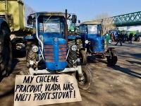 Protest farmárov v Bratislave.