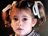 Drew Barrymore ako 7-ročná.