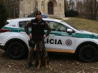 npráp. Peter Molnár a služobný pes Ciron