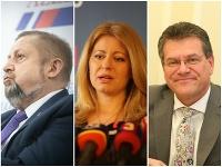 Štefan Harabin, Zuzana Čaputová a Maroš Šefčovič