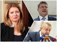 Zuzana Čaputová, Maroš Šefčovič a Štefan Harabin