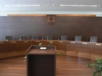 Na snímke pojednávacia miestnosť pléna Ústavného súdu SR