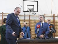 Na snímke zľava primátor Košíc Jaroslav Polaček a predseda KSK Rastislav Trnka