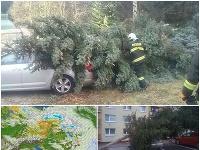 Nepriaznivé počasie na Slovensku.