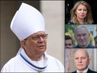 Trnavský arcibiskup vo svojej kázni kritizoval Čaputovú, Mikloška aj Bezáka.