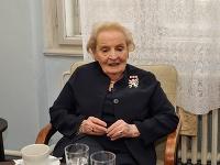 Madeleine Albrightová na Právnickej fakulte UK v Prahe.