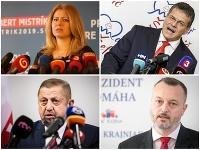 Zuzana Čaputová, Maroš Šefčovič, Štefan Harabin a Milan Krajniak