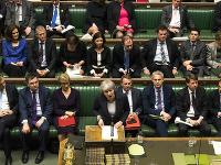 Prejav Theresy Mayovej pred zákonodarcami Dolnej snemovne britského parlamentu