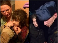 Ruskí policajti zachránili dievča (5).