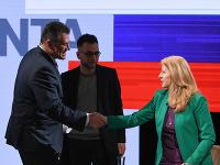 V druhom kole sa stretnú Zuzana Čaputová a Maroš Šefčovič