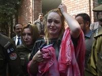Tereza po vynesení rozsudku.