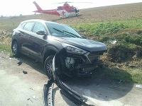 Pri dopravnej nehode v katastri obce Boleráz zasahuje vrtuľník