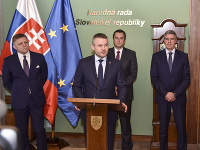 Peter Pellegrini, Robert Fico, Andrej Danko, Béla Bugár
