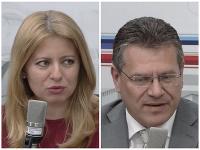Zuzana Čaputová a Maroš Šefčovič.