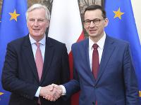 Michel Barnier a Mateusz Morawiecki