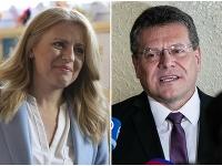 Slováci dnes rozhodujú medzi prezidentskými kandidátmi Zuzanou Čaputovou a Marošom Šefčovičom