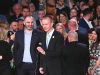 Miroslav Beblavý a Ivan Štefunko rečnili vo volebnej centrále Zuzany Čaputovej.