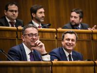 Predseda parlamentu Andrej Danko a podpredseda parlamentu Martin Glváč