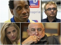 Ibrahim Maiga, Igor Adamec, Martina Šimkovičová a Andy Hryc