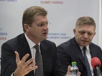 Peter Žiga a Robert Fico