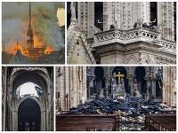 Požiar v parížskej katedrále Notre-Dame priniesol obrovské škody.