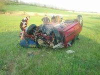 Dopravná nehoda v obci Jablonica