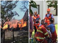 Požiar v Ružinove si vyžiadal zranených.