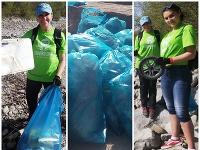 Deti a dobrovoľníci vyčistili brehy Liptovskej Mary.