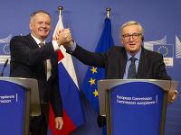 Prezident SR Andrej Kiska a Jean-Claude Juncker