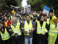 Demonštranti z francúzskeho hnutia tzv. žltých viest zorganizovali ďalšie zo série protestov v Paríži.