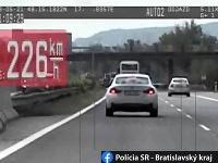 Cestný pirát na D2 v smere do Bratislavy.