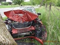 Auto po náraze zostalo nepojazdné