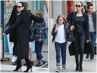 Angelina Jolie si so svojimi deťmi vyšla na nákupy.