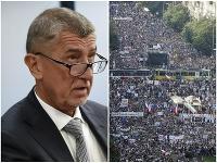 Václavské námestie, plné ľudí, požadovalo nielen Babišov odchod.