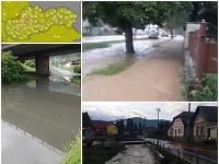 Slovensko zasiahli búrky, vytopilo viacero obcí.