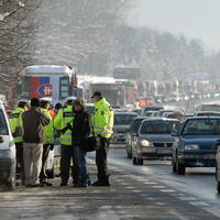 Blokáda ciest pri Banskej Bystrici