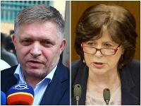 Robert Fico a Monika Smolková