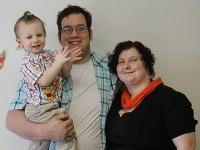 Sueretta s manželom a synom