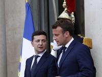 Volodymyr Zelenskyj a Emmanuel Macron