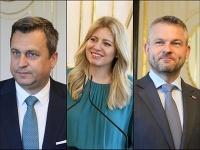 Andrej Danko, Zuzana Čaputová a Peter Pellegrini