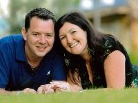 Chris s manželkou Avril