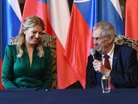 Prezidentka Zuzana Čaputová a Miloš Zeman