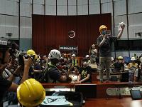 Sídlo hongkonskej zákonodarnej rady je posledné tri týždne stredobodom protestov