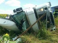 Dopravná nehoda kamióna na R1.