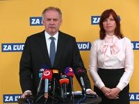 Andrej Kiska a Veronika Remišová