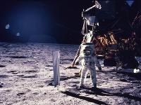 Aldrin počas pobytu na Mesiaci