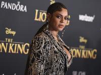 Beyoncé na premiére rozprávky Leví kráľ.