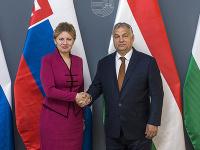 Zuzana Čaputová a Viktor Orbán